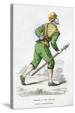 Huntsman, 16th Century (1882-188)-Edmond Lechevallier-Chevignard-Stretched Canvas Print