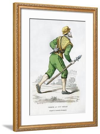Huntsman, 16th Century (1882-188)-Edmond Lechevallier-Chevignard-Framed Giclee Print