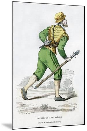 Huntsman, 16th Century (1882-188)-Edmond Lechevallier-Chevignard-Mounted Giclee Print