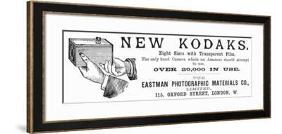 Advertisement for Kodak Cameras, 1890--Framed Giclee Print