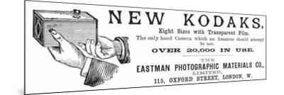 Advertisement for Kodak Cameras, 1890--Mounted Giclee Print