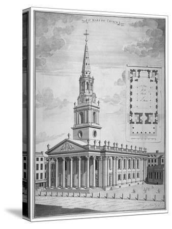 Church of St Martin-In-The-Fields, Westminster, London, C1730--Stretched Canvas Print