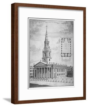 Church of St Martin-In-The-Fields, Westminster, London, C1730--Framed Giclee Print