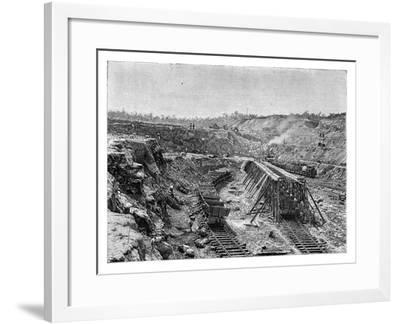 The Panama Canal under Construction, C1890--Framed Giclee Print