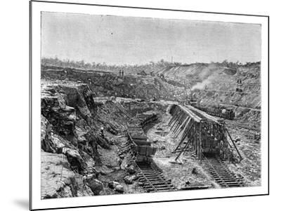 The Panama Canal under Construction, C1890--Mounted Giclee Print