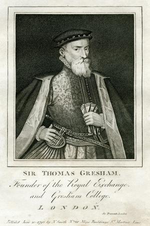 Sir Thomas Gresham, British Merchant and Financier, 16th Century--Framed Giclee Print