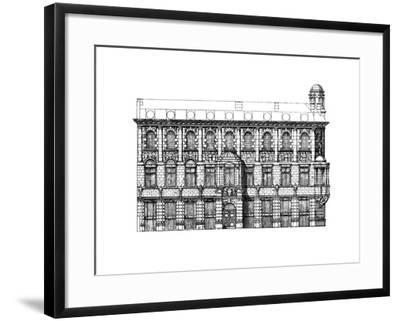 Elevation of the Institute of Chartered Accountants, 1895-John Belcher-Framed Giclee Print