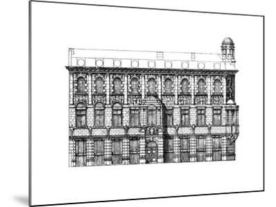 Elevation of the Institute of Chartered Accountants, 1895-John Belcher-Mounted Giclee Print