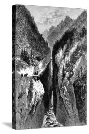 The Lantzan-Kiang-Hogg's Gorge, C1890--Stretched Canvas Print