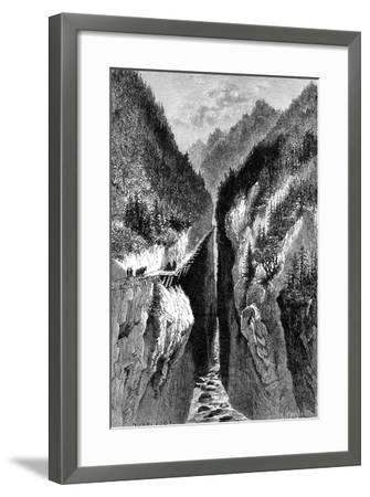 The Lantzan-Kiang-Hogg's Gorge, C1890--Framed Giclee Print