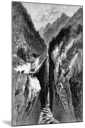 The Lantzan-Kiang-Hogg's Gorge, C1890--Mounted Giclee Print