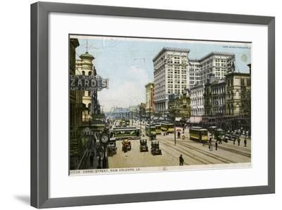 Canal Street, New Orleans, USA, C1912--Framed Giclee Print