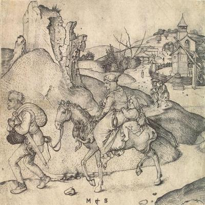 Peasant Family Going to the Market, Between 1473 and 1475-Martin Schongauer-Framed Giclee Print