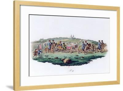Wedding Procession, Russia, 1820--Framed Giclee Print
