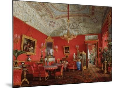 Interiors of the Winter Palace, the Large Drawing Room of Empress Alexandra Fyodorovna, 1858-Eduard Hau-Mounted Giclee Print