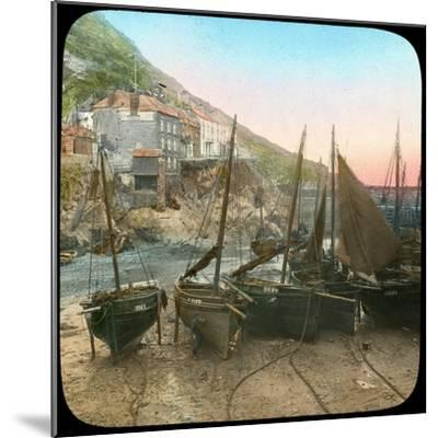Fishing Fleet at Low Tide, Polperro, Cornwall, Late 19th or Early 20th Century--Mounted Giclee Print
