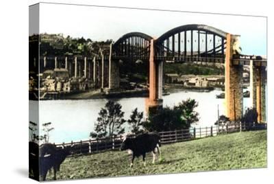 The Royal Albert Bridge, Saltash, Cornwall, 1926--Stretched Canvas Print