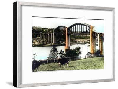 The Royal Albert Bridge, Saltash, Cornwall, 1926--Framed Giclee Print