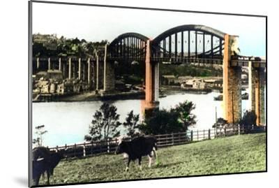 The Royal Albert Bridge, Saltash, Cornwall, 1926--Mounted Giclee Print