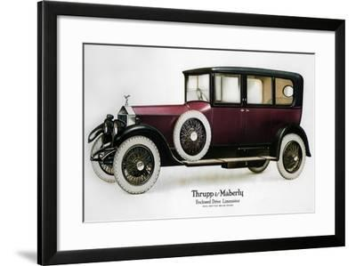 Enclosed Drive Rolls-Royce Limousine with Partition Behind the Driver, C1910-1929--Framed Giclee Print
