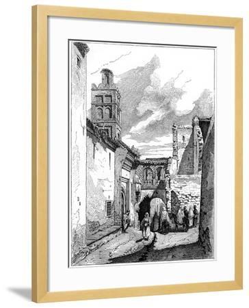 Street View in Tlemcen, Algeria, C1890--Framed Giclee Print