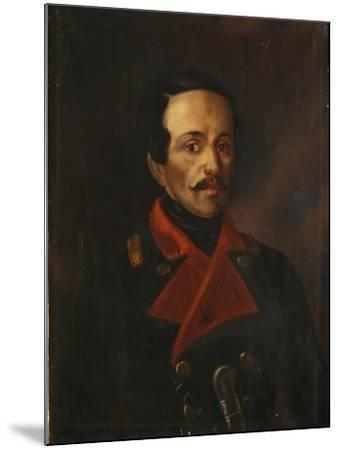 Portrait of the Poet Mikhail Lermontov (1814-184), 1854-1858-Nikolay Ivanovich Polivanov-Mounted Giclee Print