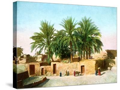 The Village of Karnak, Egypt, 20th Century--Stretched Canvas Print