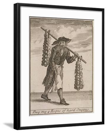 Buy My 4 Ropes of Hard Onyons, Cries of London-Marcellus Laroon-Framed Giclee Print