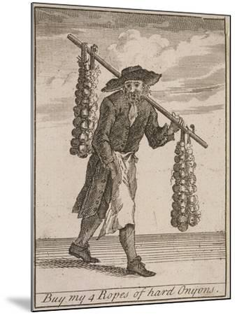 Buy My 4 Ropes of Hard Onyons, Cries of London-Marcellus Laroon-Mounted Giclee Print