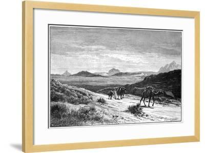View from the Tellat Pass, Tunisia, C1890-Eugene-Alexis Giradet-Framed Giclee Print