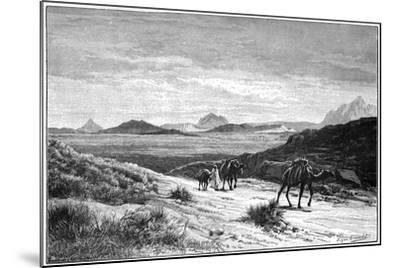 View from the Tellat Pass, Tunisia, C1890-Eugene-Alexis Giradet-Mounted Giclee Print