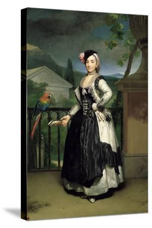 Portrait of Isabel Parreno Arce Ruiz De Alarcon Y Valdés, Marchioness of Llano-Anton Raphael Mengs-Stretched Canvas Print