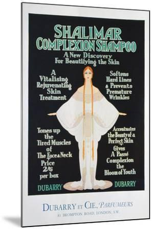 Advertisement for Shalimar Complexion Shampoo by Dubarry, 1930--Mounted Giclee Print
