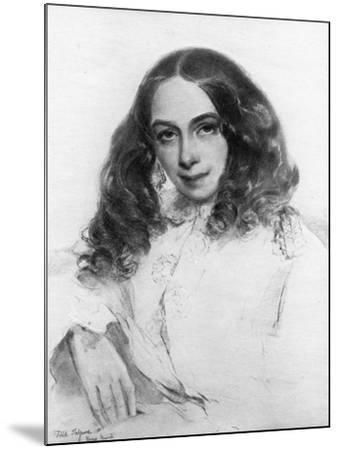 Elizabeth Barrett Browning, British Poet, 1859-Field Talfourd-Mounted Giclee Print