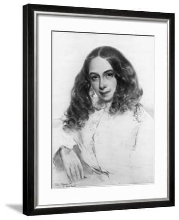 Elizabeth Barrett Browning, British Poet, 1859-Field Talfourd-Framed Giclee Print