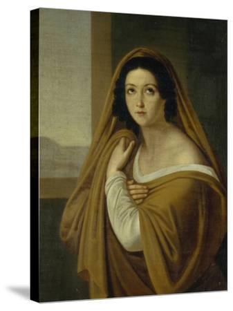 Portrait of Princess Yevdokia (Avdoty) Ivanovna Golitsyna, Née Izmaylova (1794-189), 1810S-Alexei Yegorovich Yegorov-Stretched Canvas Print