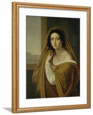Portrait of Princess Yevdokia (Avdoty) Ivanovna Golitsyna, Née Izmaylova (1794-189), 1810S-Alexei Yegorovich Yegorov-Framed Giclee Print