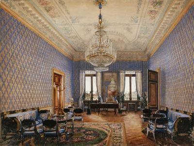 Interiors of the Winter Palace, the Drawing-Room of Grand Princess Maria Nikolayevna, 1837-Konstantin Andreyevich Ukhtomsky-Framed Giclee Print