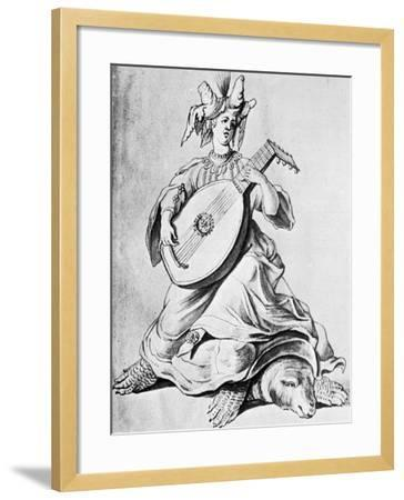 A Woman Playing a Stringed Instrument, Early 17th Century--Framed Giclee Print