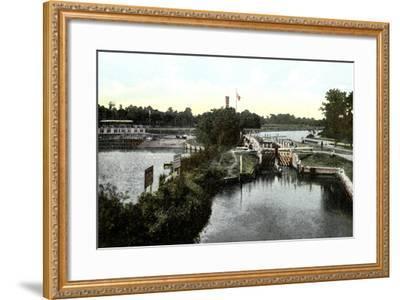 Goring Lock, Oxfordshire, 20th Century--Framed Giclee Print