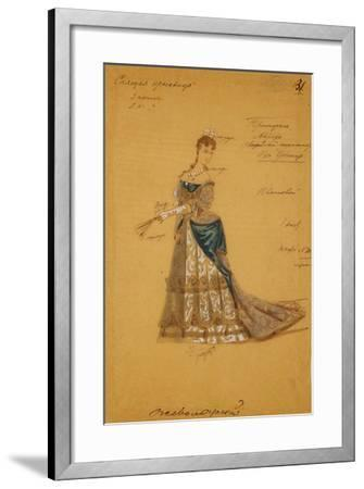 Costume Design for the Ballet Sleeping Beauty, 1887-Ivan Alexandrovich Vsevolozhsky-Framed Giclee Print