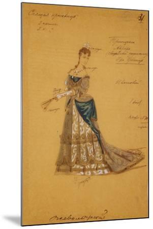 Costume Design for the Ballet Sleeping Beauty, 1887-Ivan Alexandrovich Vsevolozhsky-Mounted Giclee Print