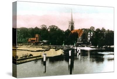The River Thames at Marlow, Buckinghamshire, 1926--Stretched Canvas Print