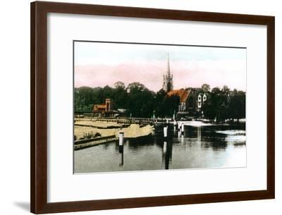 The River Thames at Marlow, Buckinghamshire, 1926--Framed Giclee Print