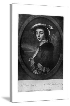 Margaret 'Peg' Woffington (1720-176), Irish Actress, 18th Century-Jackson-Stretched Canvas Print
