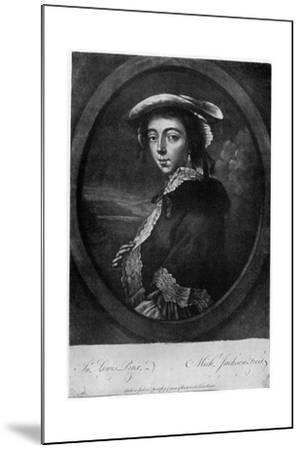 Margaret 'Peg' Woffington (1720-176), Irish Actress, 18th Century-Jackson-Mounted Giclee Print