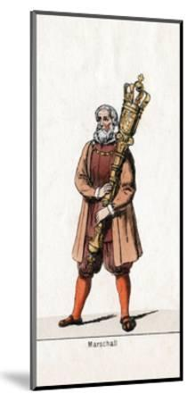 Marshal Costume Design for Shakespeare's Play, Henry VIII, 19th Century--Mounted Giclee Print