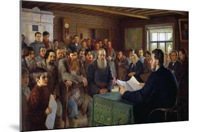 Sunday Message in a Village School, 1895-Nikolai Petrovich Bogdanov-Belsky-Mounted Giclee Print