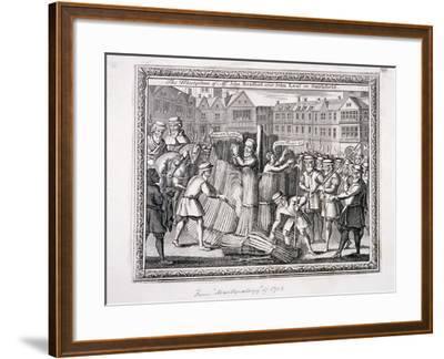 The Execution of John Bradford and John Leaf at Smithfield, 1555--Framed Giclee Print