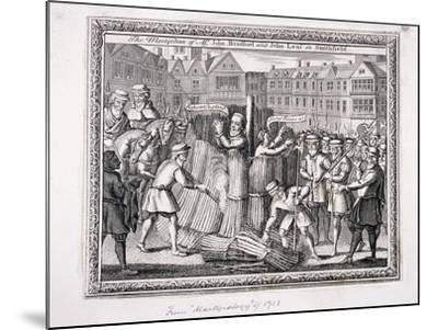 The Execution of John Bradford and John Leaf at Smithfield, 1555--Mounted Giclee Print